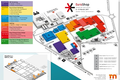 Hall map 12 A54 - Euroshop 2017